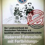 Zertifikat Motorradfahrschule